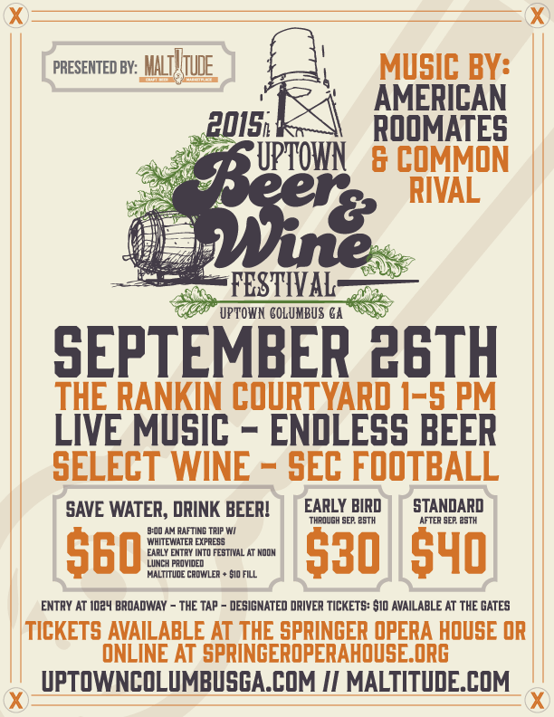 2015 Uptown Beer Wine Fest Flyer Outline  Flyer Outline